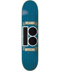Plan B Team Official Skateboard Blue