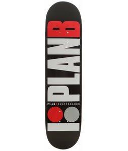 Plan B Team OG Skateboard Black 7.75