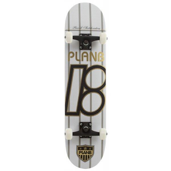 Plan B United White Skateboard Complete