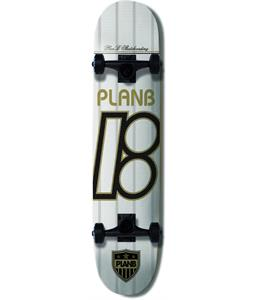 Plan B United White Skateboard Complete 7.75 x 31.25in