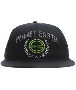Planet Earth Logo Cap Black