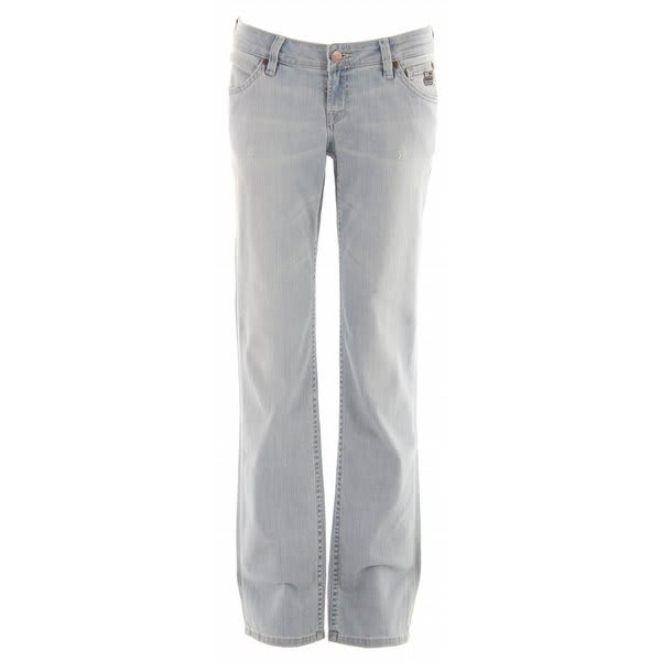Planet Earth Straight Cut Stone Wash Jeans