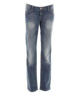 Planet Earth Straight Cut Stone Wash Jean Medium Indigo