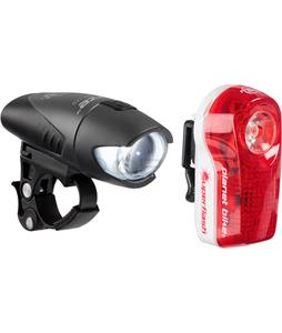 Planet Bike 1/2 Watt Headlight And Superflash Taillight Set Black