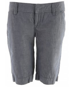 Planet Earth Chambray Long Shorts Dark Denim