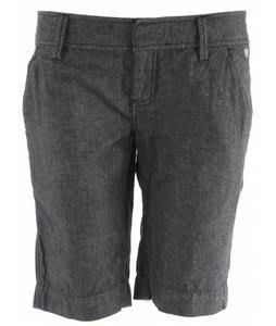 Planet Earth Chambray Long Shorts Graphite Black