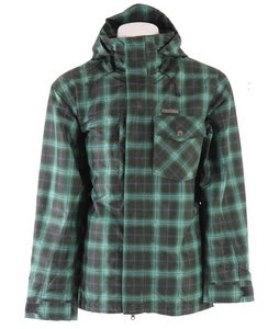 Planet Earth Chetco Insulated Snowboard Jacket Swamp Green/Aqua