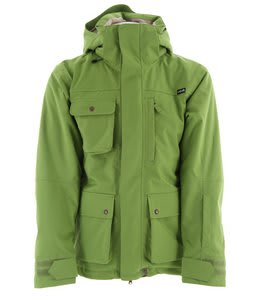 Planet Earth Dakota Insulated Snowboard Jacket Leaf Green