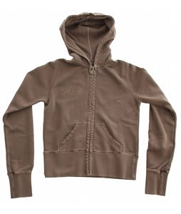 Planet Earth Hearts Zip Hoodie Taupe