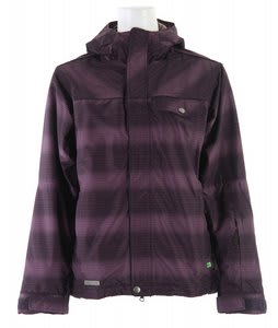 Planet Earth Jessy Insulated Snowboard Jacket Eggplant Concord Breen Ice