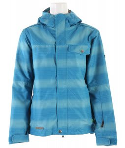 Planet Earth Jessy Insulated Snowboard Jacket Inca Blue Aqua Ice