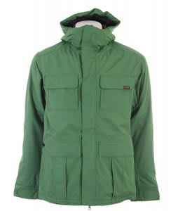 Planet Earth Lieutenant Insulated Snowboard Jacket Crabgrass Green