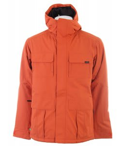 Planet Earth Lieutenant Insulated Snowboard Jacket Heatwave Orange