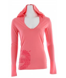 Planet Earth Lindsey Hooded T-Shirt Coral Pink