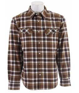 Planet Earth Linier Flannel Shirt Brown