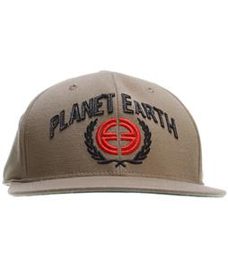 Planet Earth Logo Cap Tweed Beige