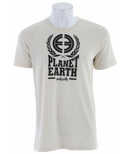 Planet Earth Logo S/S T-Shirt Heather/Beige
