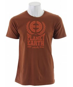 Planet Earth Logo S/S T-Shirt Rust Brown