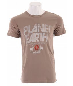 Planet Earth Newman S/S T-Shirt Taupe