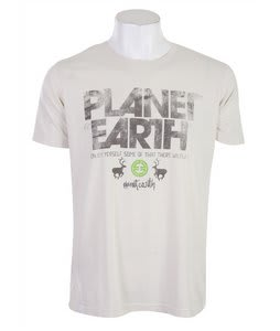 Planet Earth Newman T-Shirt Natural White