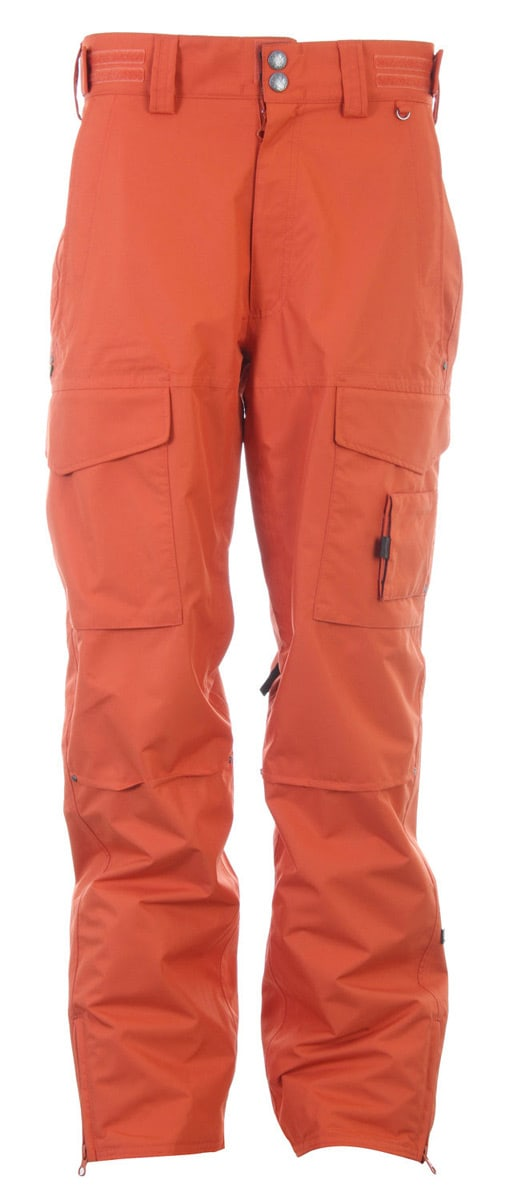 Planet Earth Outpost Snowboard Pants Heat Wave Orange - Men's