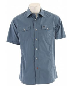 Planet Earth Parker Camp S/S Shirt Mid Blue