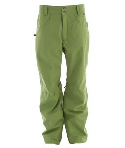Planet Earth Upshot Shell Snowboard Pants Leaf Green Twill