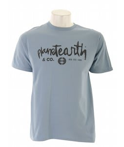 Planet Earth Type T-Shirt Ice Flow Blue
