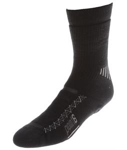 Point6 Active Medium Crew Socks Black