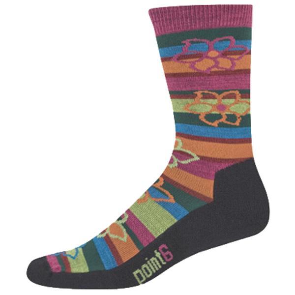 Point6 Bolivian Stripe Extra Light 3/4 Crew Socks