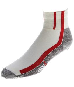 Point6 Cycling Velo Ultra Light Mini Crew Socks Natural