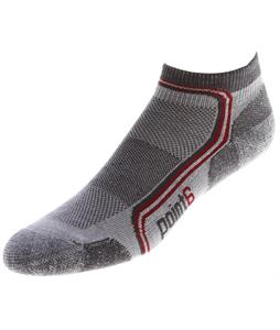 Point6 Running Flash Extra Light Mini Crew Socks Silver/Gray