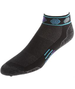 Point6 Running Katie Ultra Light Mini Crew Socks Black