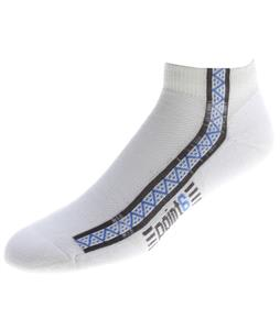Point6 Running Light Mini Socks White
