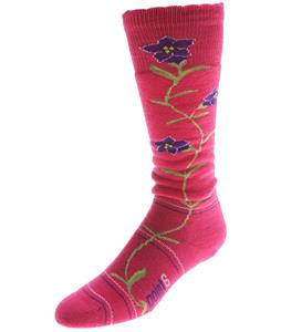 Point6 Ski Enzian Medium OTC Socks Lipstick
