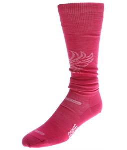 Point6 Ski Phoenix Ultra Light OTC Socks Lipstick/White