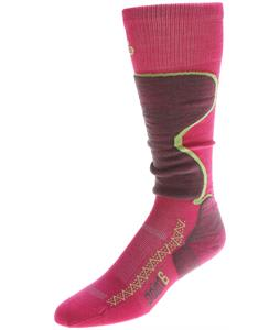 Point6 Ski Pro Light OTC Socks Lipstick/Bright Lime