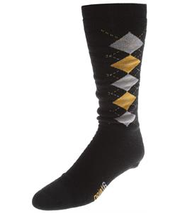 Point6 Snowboard/Gnargyle Medium OTC Socks Black/Yellow