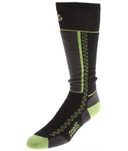 Point6 Snowboard Medium OTC Socks Black/Bright Lime
