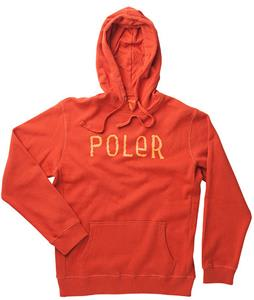 Poler Furry Font Hoodie Burnt Orange