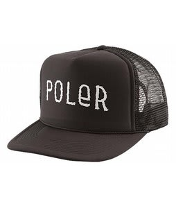 Poler Furry Font Trucker Cap Solid Black