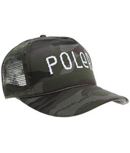Poler Furry Font Trucker Cap Forest Camo