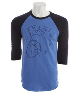 Poler Grizzly Raglan Heather Lake Blue/Navy