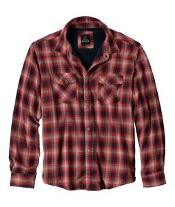 Prana Asylum Flannel Shirt Mahogany