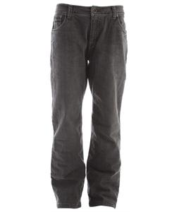 Prana Axiom Flannel Lined Jeans Dark Grey Wash