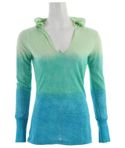 Prana Julz Hoodie Top Baja Blue