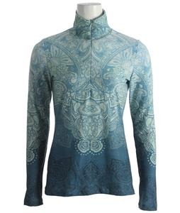 Prana Mabel 1/2 Zip Performance Top Ink Blue