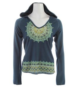 Prana Petra Hoodie Blue Spruce Medallion