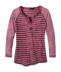 Prana Zoe Henley Shirt Scarlet
