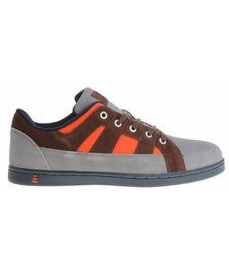 Praxis Ethos Skate Shoes Grey/Orange Suede